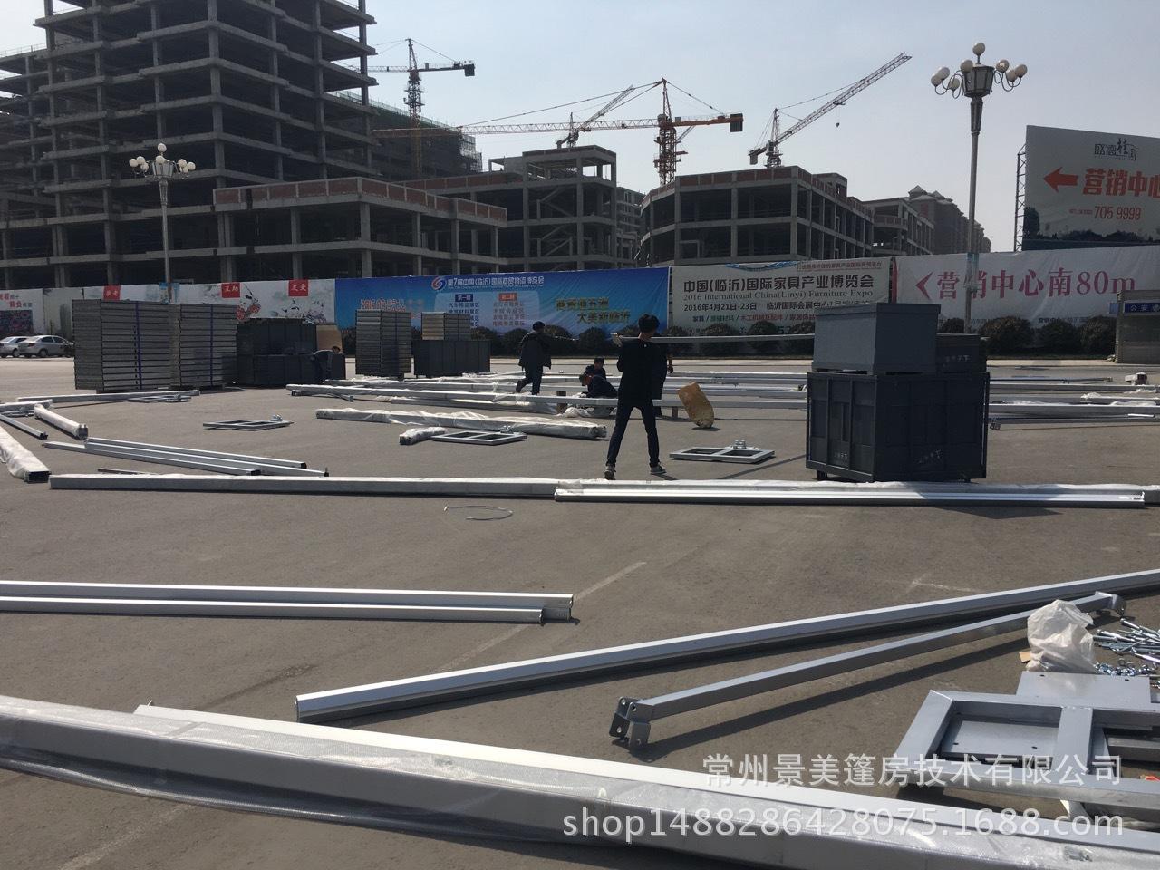 济宁宝马4s店采购5米边高定制篷房搭建
