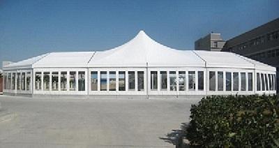滁州国强民富售楼处定制精品玻璃夹心硬质墙体篷房